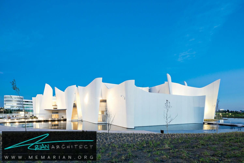 سازه بتنی موجدار: دیوارهای موزه بین المللی دلو باروو - سازه بتنی