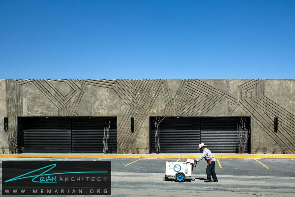 طرح های بتنی حک شده: معماری الگوی هندسی - سازه بتنی