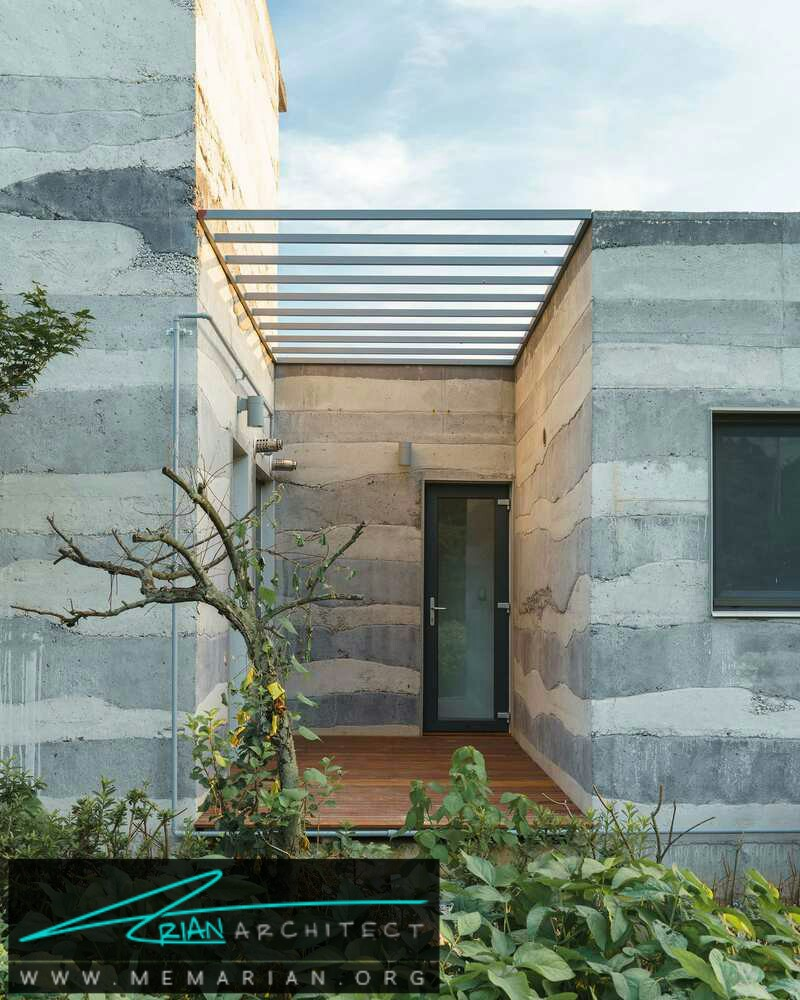 لایه های الهام گرفته از زمین شناسی: خانه Stratum - سازه بتنی