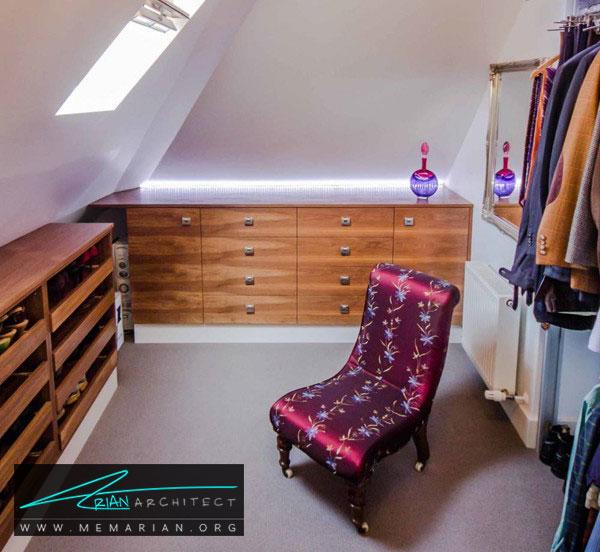 اتاق لباس زیرشیروانی - طراحی اتاق لباس در خانه مستلزم رعایت چه نکاتی است؟
