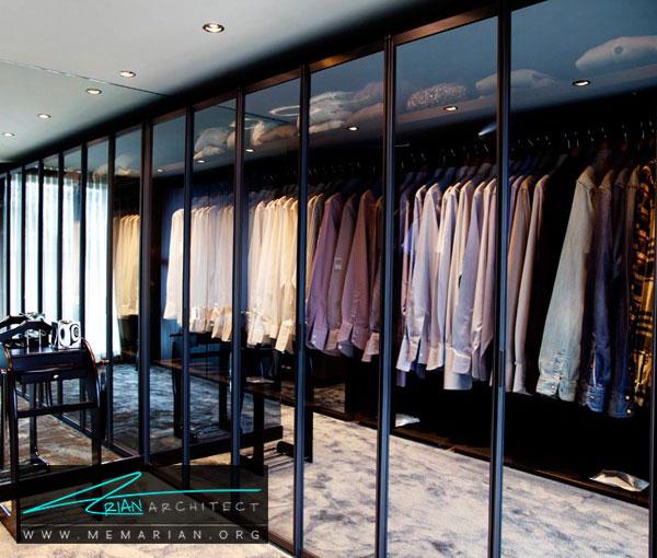 درب شفاف کمدهای اتاق لباس - طراحی اتاق لباس در خانه مستلزم رعایت چه نکاتی است؟