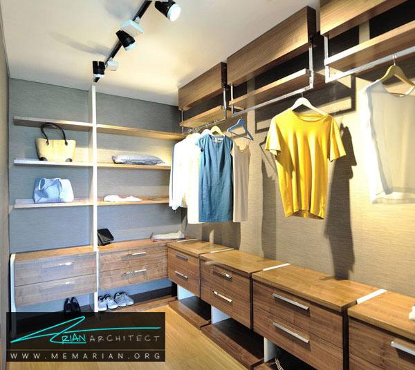 نورپردازی اتاق لباس - طراحی اتاق لباس در خانه مستلزم رعایت چه نکاتی است؟