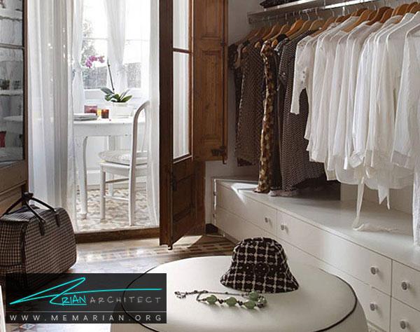 صندلی و کاناپه در اتاق لباس - طراحی اتاق لباس در خانه مستلزم رعایت چه نکاتی است؟