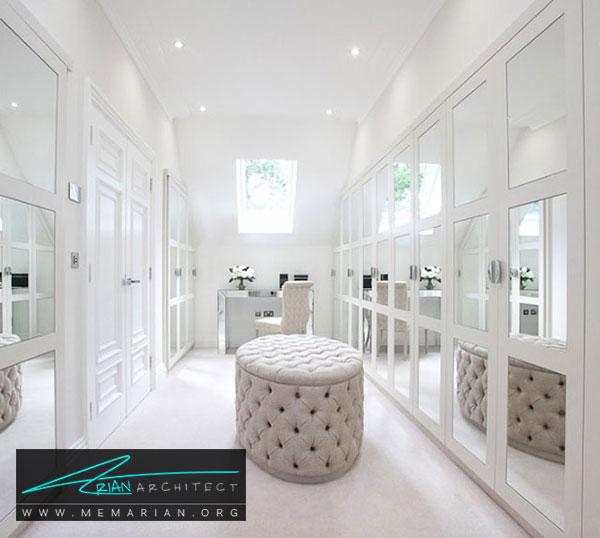 کمدهای سفارشی در اتاق لباس - طراحی اتاق لباس در خانه مستلزم رعایت چه نکاتی است؟