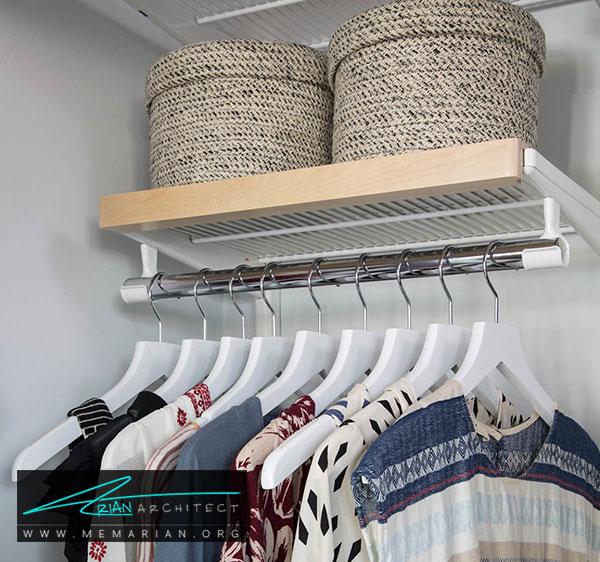 جعبه ها در اتاق لباس - طراحی اتاق لباس در خانه مستلزم رعایت چه نکاتی است؟