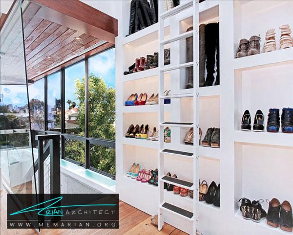 طراحی جا کفشی در اتاق لباس - طراحی اتاق لباس در خانه مستلزم رعایت چه نکاتی است؟