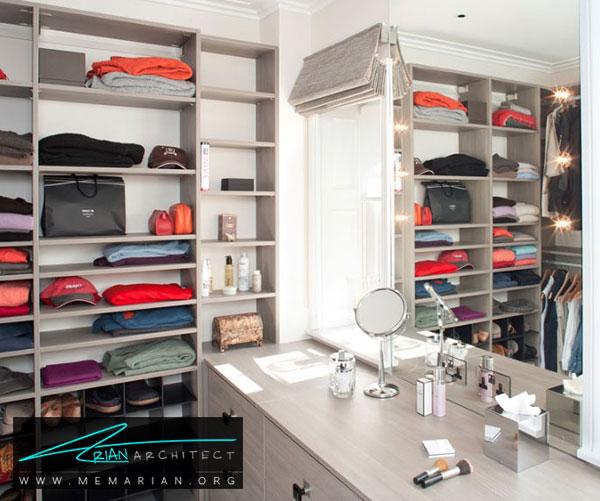 اتاق لباس در خانه - طراحی اتاق لباس در خانه مستلزم رعایت چه نکاتی است؟