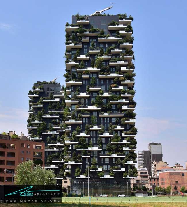ساختمان جنگل عمودی در ایتالیا - 9 ساختمان که اثربخشی معماری سبز را اثبات می کند.