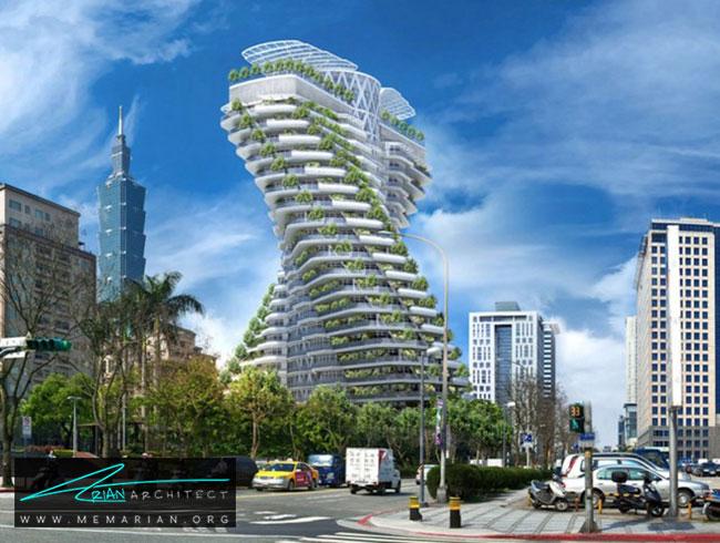 ساختمان DNA در تایوان - 9 ساختمان که اثربخشی معماری سبز را اثبات می کند.