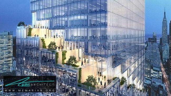 ساختمان پله ای نیویورک - 9 ساختمان که اثربخشی معماری سبز را اثبات می کند.