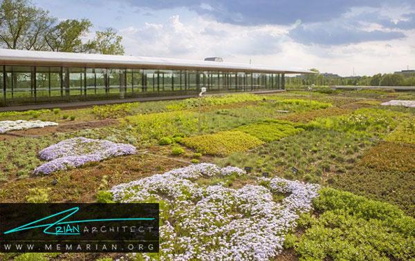 نمونه های معماری بام سبز