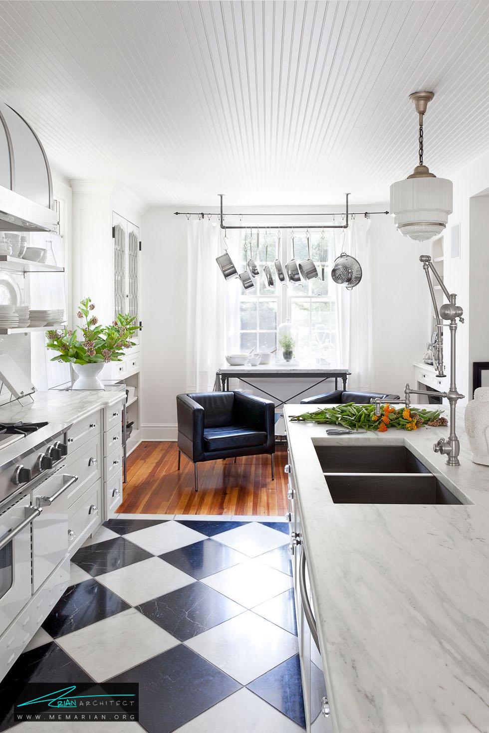 قفسه آهنی ساده - 20 ایده جذاب برای دکوراسیون آشپزخانه
