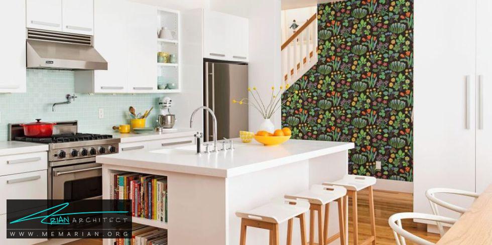 رنگ پس زمینه کابینت ها - 20 ایده جذاب برای چیدمان دکوراسیون آشپزخانه