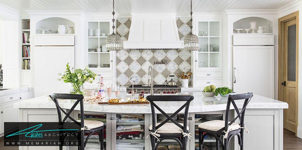 یک دیوارِ بی نظیر - 20 ایده جذاب برای چیدمان دکوراسیون آشپزخانه