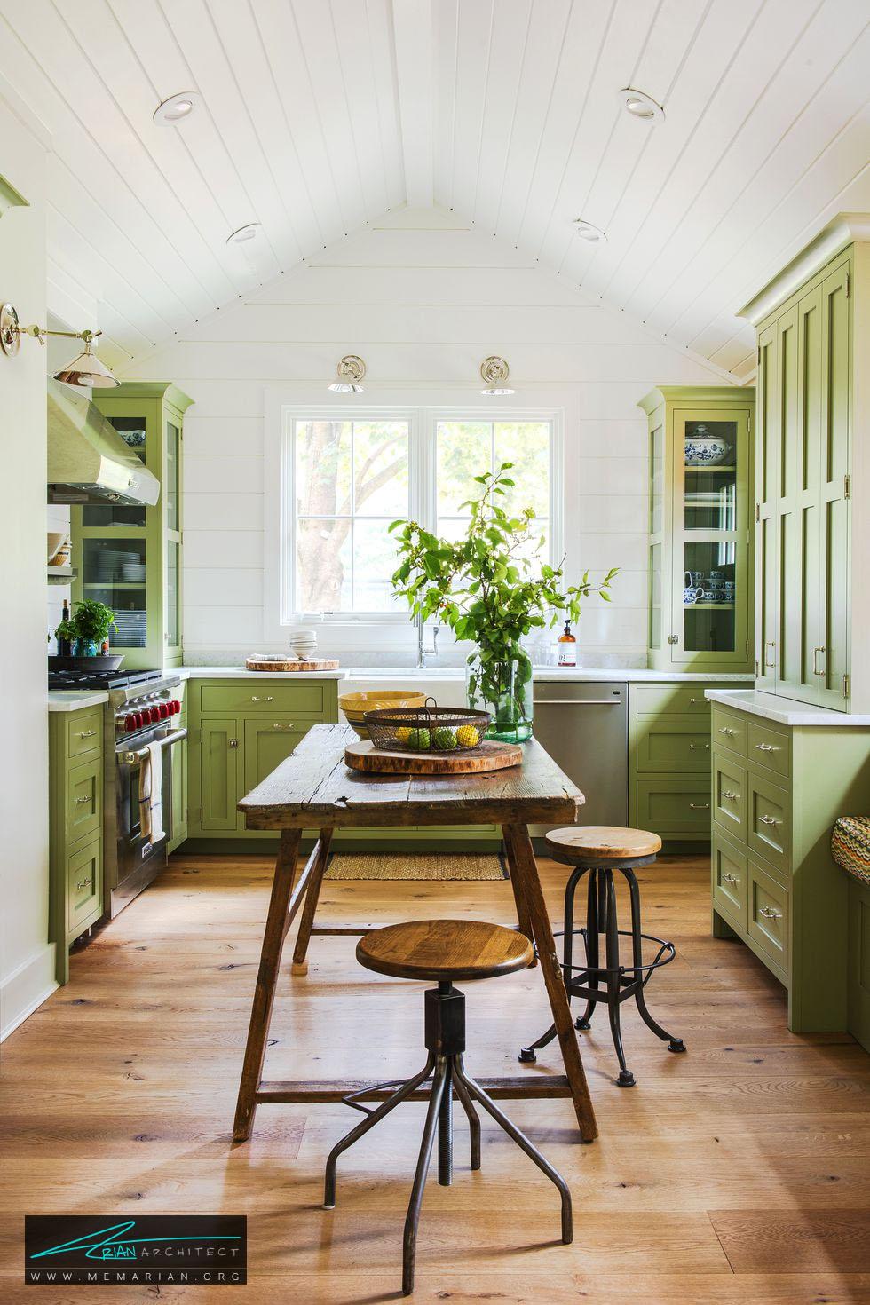میز بلند در چیدمان دکوراسیون آشپزخانه - 20 ایده جذاب برای چیدمان دکوراسیون آشپزخانه