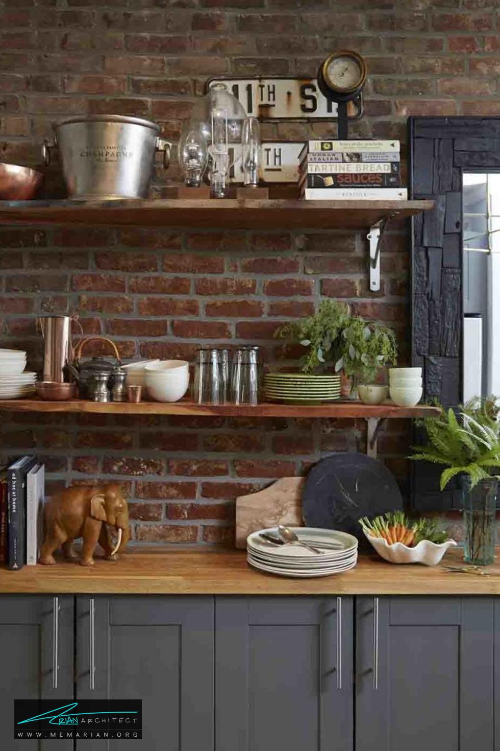 محدوده سرگرم کننده - 20 ایده جذاب برای چیدمان دکوراسیون آشپزخانه