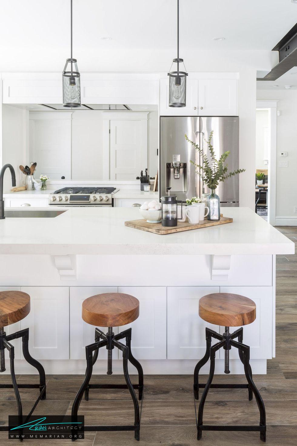 صفحه چوبی روی میز - 20 ایده جذاب برای چیدمان دکوراسیون آشپزخانه