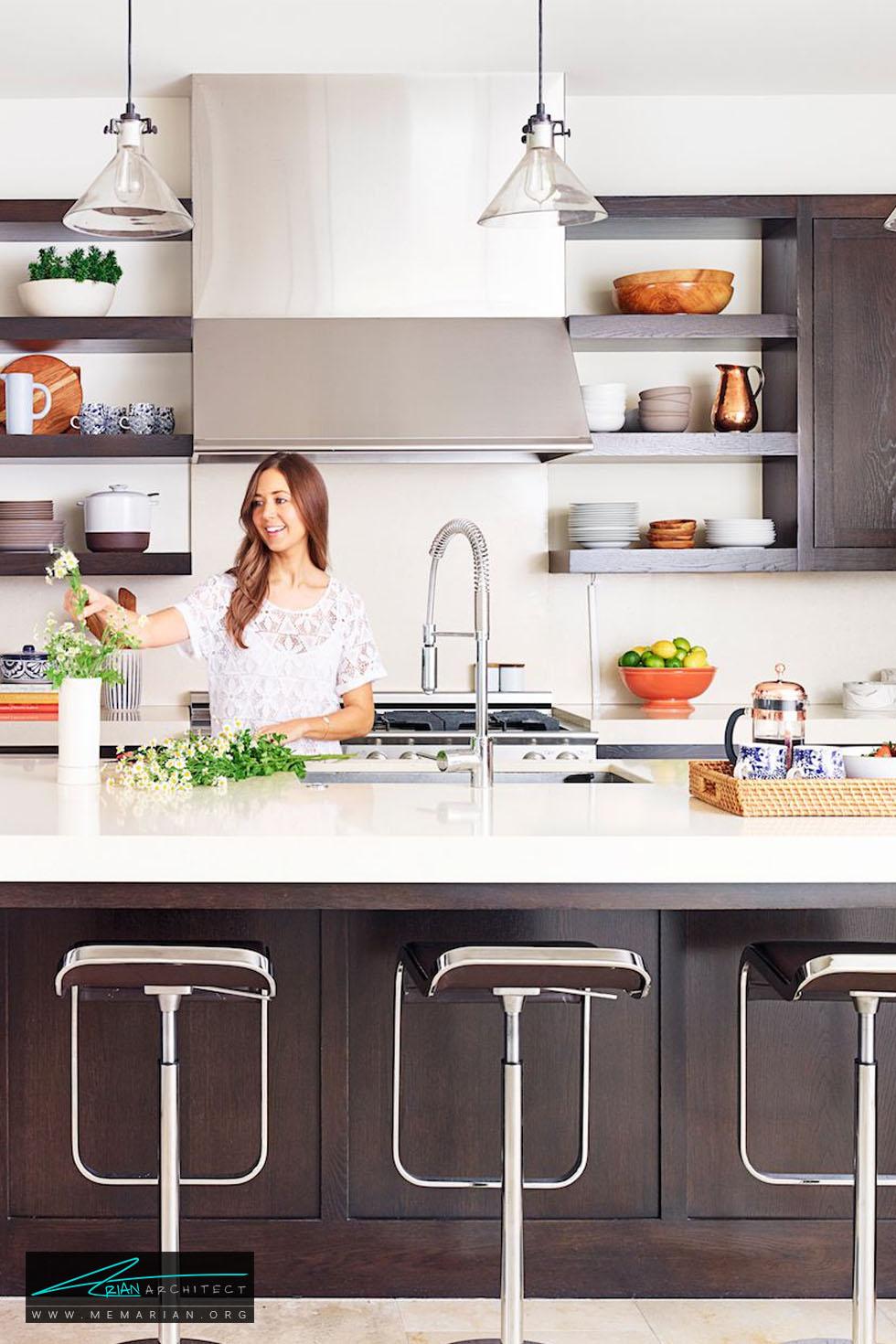 نورپردازی روشن - 20 ایده جذاب برای چیدمان دکوراسیون آشپزخانه