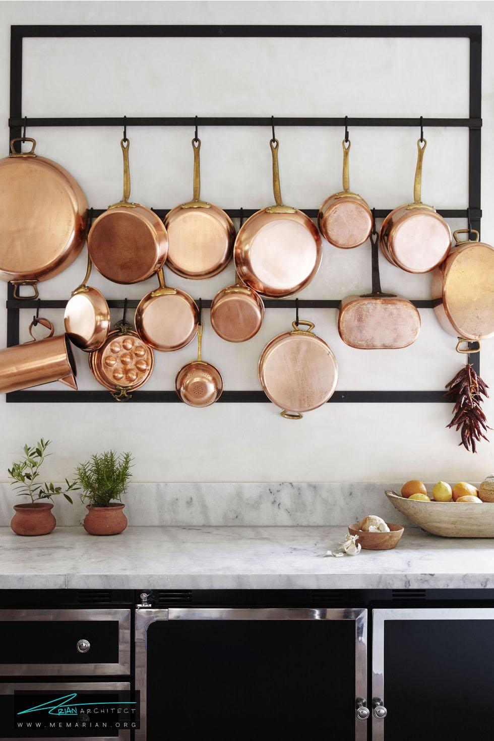 نگهدارنده وسایل آشپزخانه - 20 ایده جذاب برای چیدمان دکوراسیون آشپزخانه