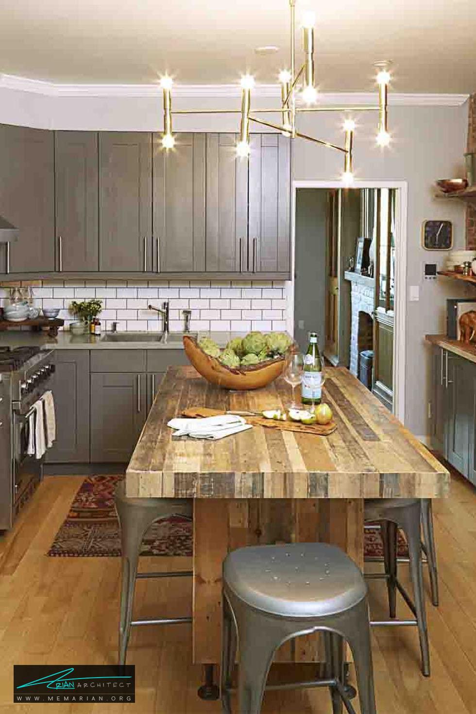 میزهای چندکاره و چندقابلیتی - 20 ایده جذاب برای دکوراسیون آشپزخانه
