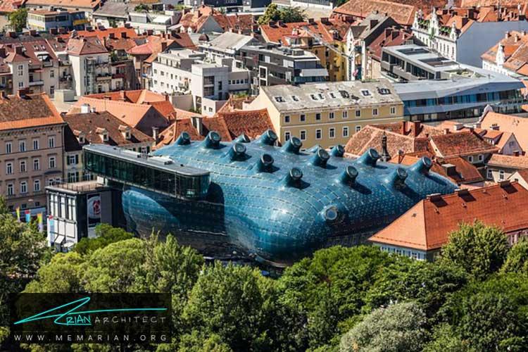 خانه هنرهای معاصر کونست هاوس - راهنماهای سفر به مکان هایی با بهترین آثار معماری جهان