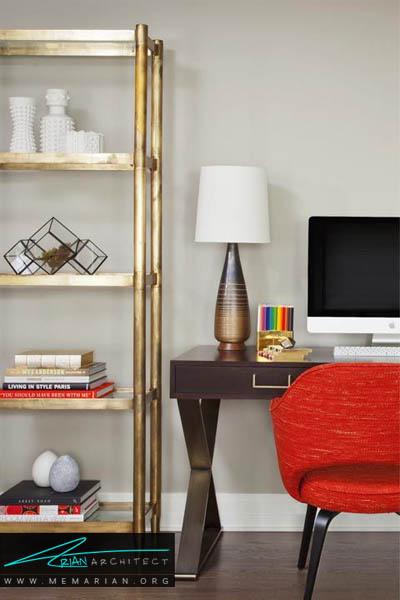 استفاده از یک صندلی راحتی در دکوراسیون دفتر کار - 10 دکوراسیون دفتر کار که به شما انگیزه کار می دهد