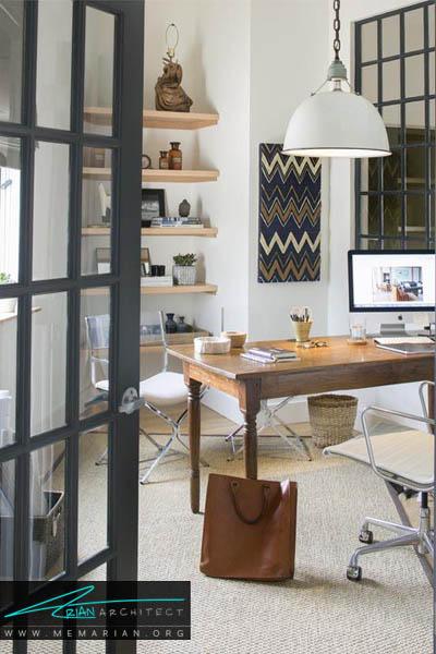 از عناصر طبیعی استفاده کنید - 10 دکوراسیون دفتر کار که به شما انگیزه کار می دهد