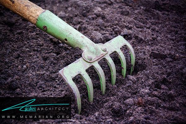تهیه خاک باغچه - طراحی باغچه ارگانیک در حیاط خانه
