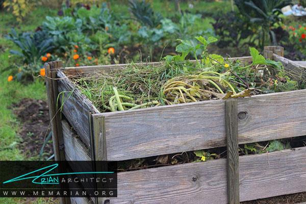 تهیه کود طبیعی- طراحی باغچه ارگانیک در حیاط خانه