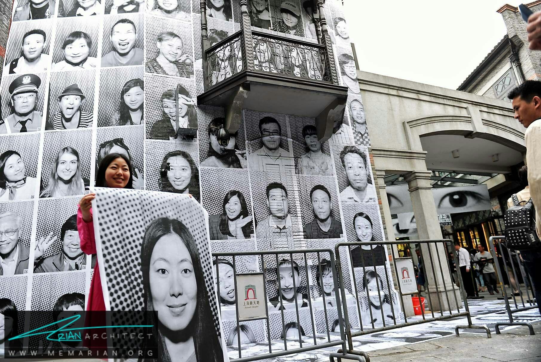 نمایشگاه عکاسی شهری JR - آثار هنری خیابانی