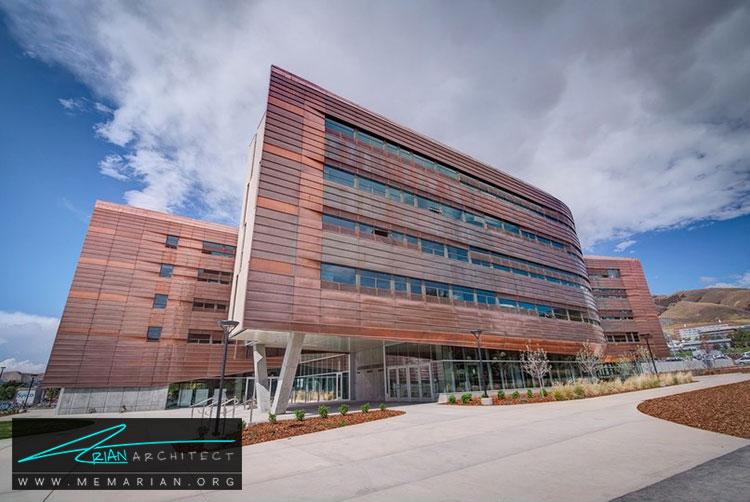 معماری ساختمان دانشگاه یوتا - 9 نمونه از بهترین ساختمانهای جدید دانشگاه در سراسر جهان