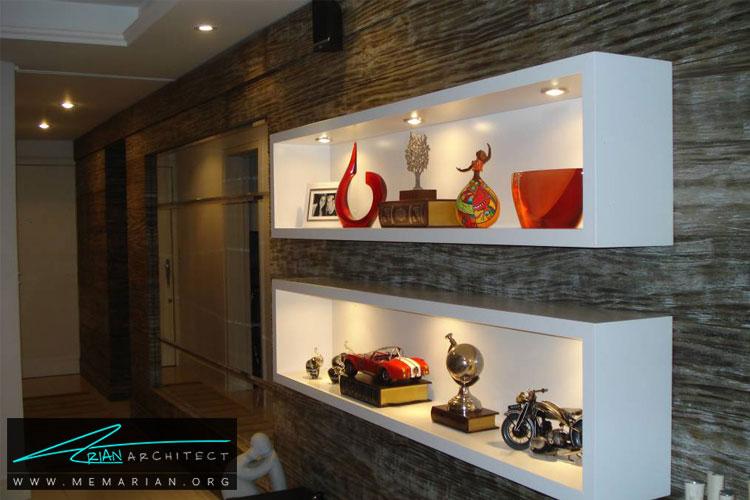 طراحی دیوار با قفسه ها - 10 ایده طراحی دیوار با طراحی خلاقانه