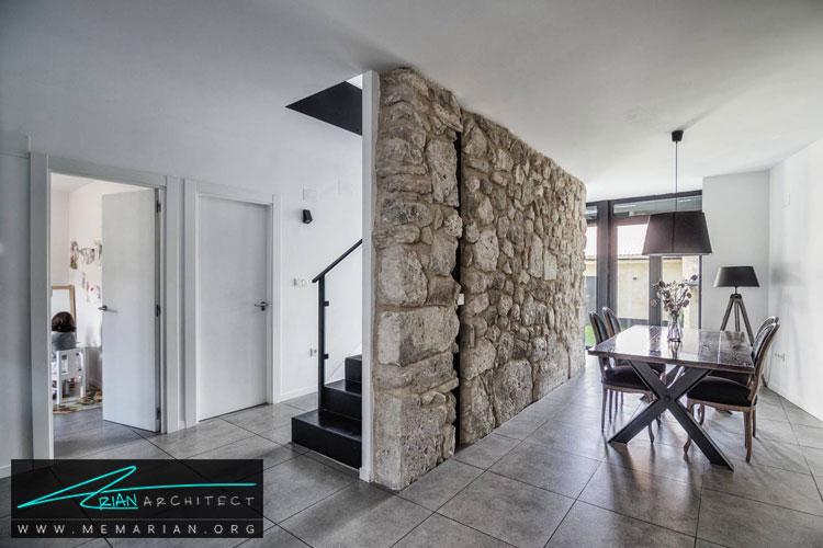 طراحی نمای سنگی - 10 ایده طراحی دیوار با طراحی خلاقانه