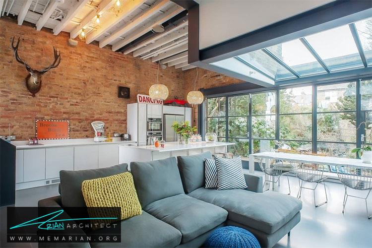 نمای آجری دیوار - 10 ایده طراحی دیوار با طراحی خلاقانه
