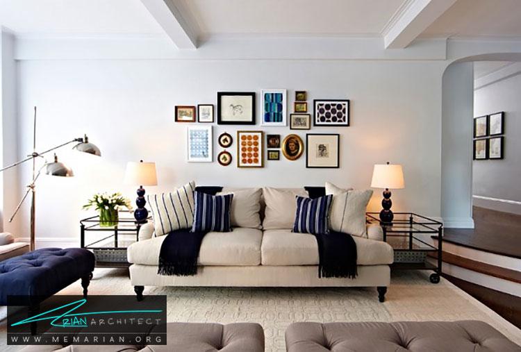طراحی دیوار با قاب عکس - 10 ایده طراحی دیوار با طراحی خلاقانه