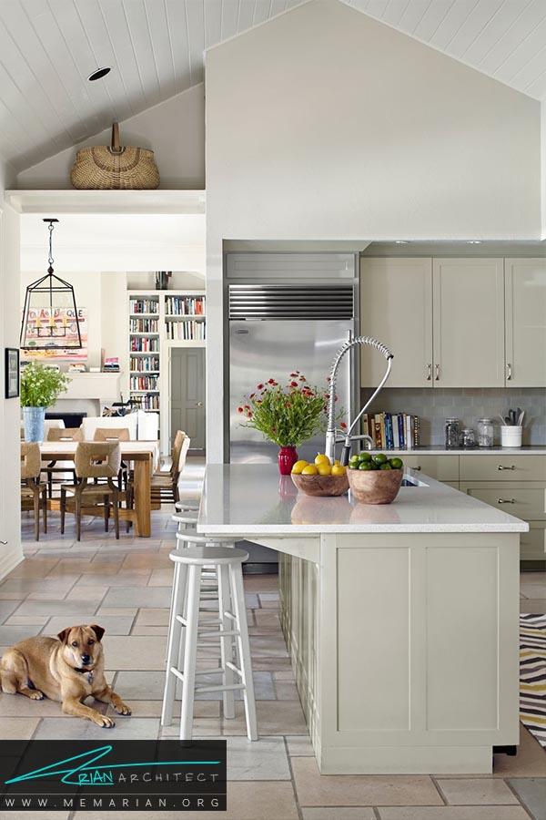 سفید و براق - دکوراسیون رنگ سفید در آشپزخانه