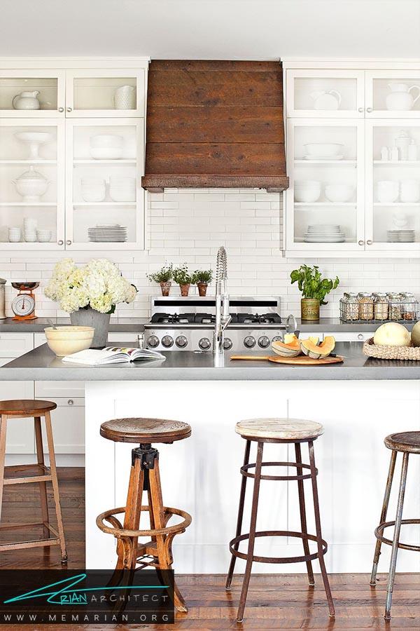 یک آشپزخانه معمولی - دکوراسیون رنگ سفید در آشپزخانه