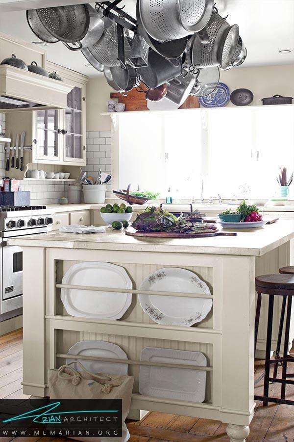 آشپزخانه خارج از رنگسفید - دکوراسیون رنگ سفید در آشپزخانه