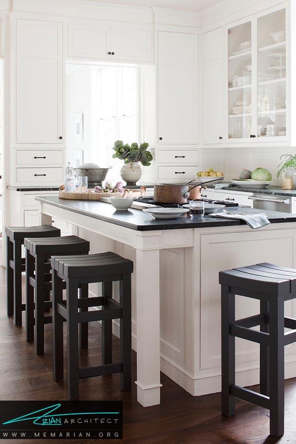 وزن سنگین رنگ ها - دکوراسیون رنگ سفید در آشپزخانه