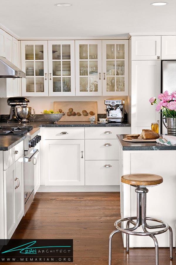 فضای شاد-دکوراسیون رنگ سفید در آشپزخانه