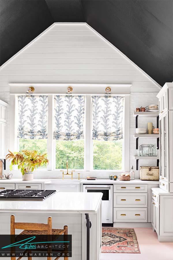 رنگ های طبیعی -دکوراسیون رنگ سفید در آشپزخانه