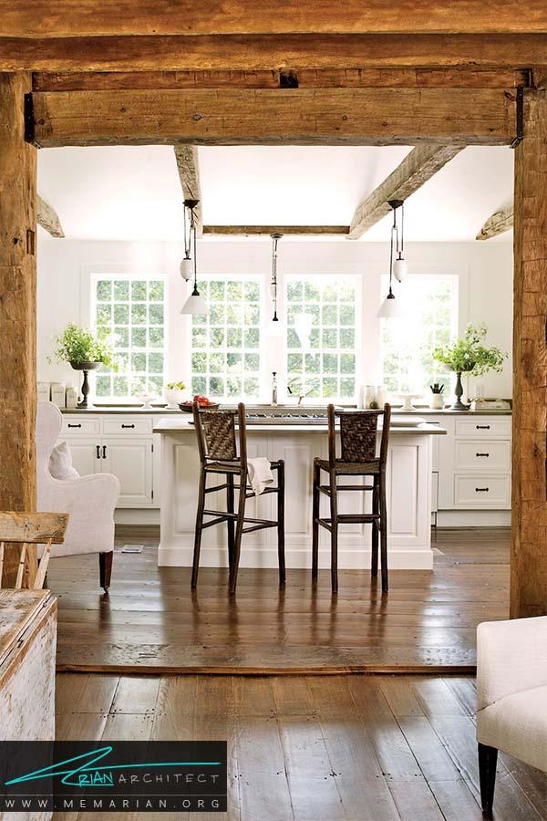 گسترش ورودی - دکوراسیون رنگ سفید در آشپزخانه