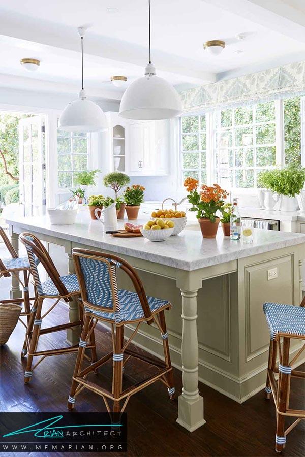 رنگ های مکمل - دکوراسیون رنگ سفید در آشپزخانه