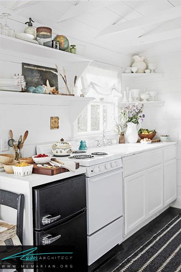 رنگ مات سیاه و سفید - دکوراسیون رنگ سفید در آشپزخانه