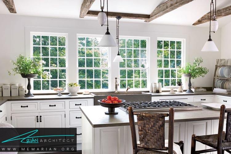 سفید و روشن - دکوراسیون رنگ سفید در آشپزخانه