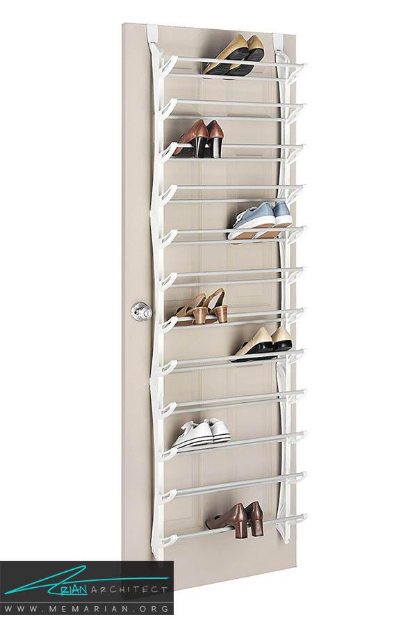 کفش هایتان را در این قفسه های آهنی قرار دهید - نظم در دکوراسیون اتاق