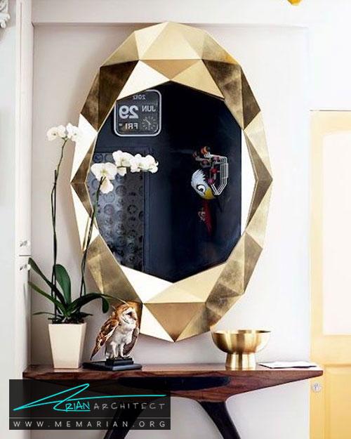 طرح های هندسی آینه ها - شیک ترین ایده های دکوراسیون با آینه