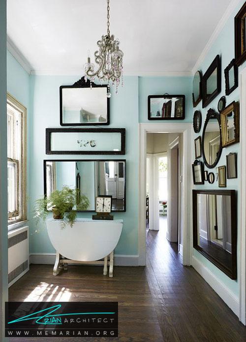 آینه در راهروها - شیک ترین ایده های دکوراسیون با آینه