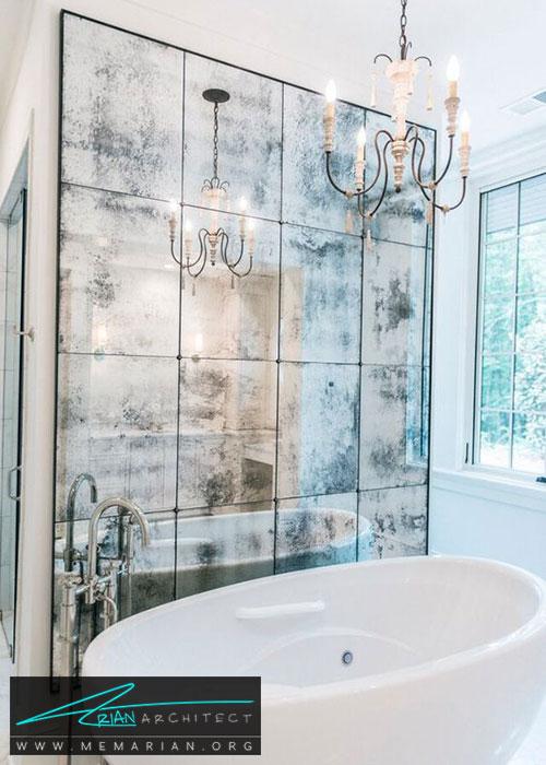 آینه در دکوراسیون حمام - شیک ترین ایده های دکوراسیون با آینه