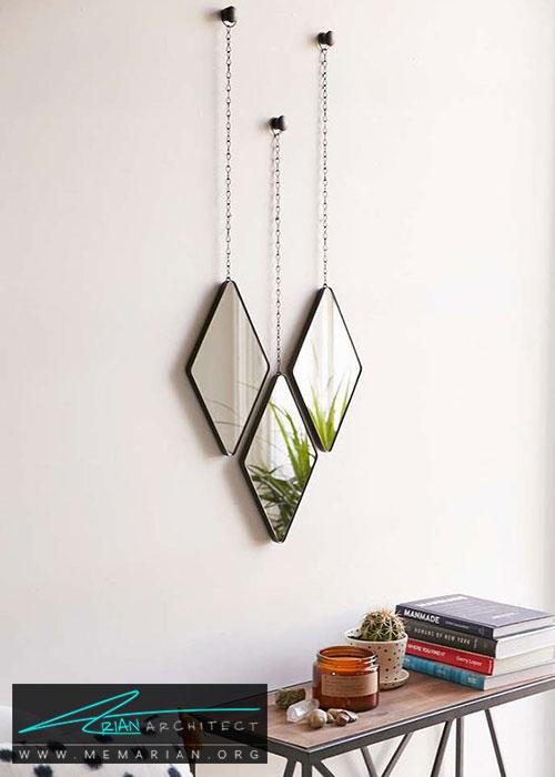 آینه های آویزان - شیک ترین ایده های دکوراسیون با آینه